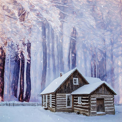 Digital Art - Cabin In The Woods by Marilyn Wilson