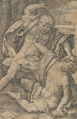 Relief - Cain Killing Abel by Lucas van Leyden