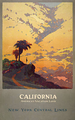 Digital Art - California Travel Poster by Graphicaartis