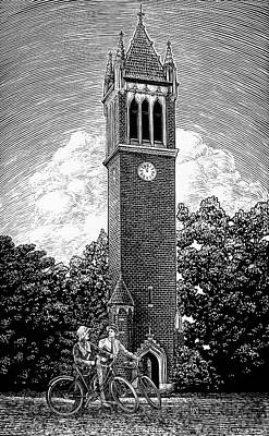 Drawing - Campanile 1928 by Clint Hansen