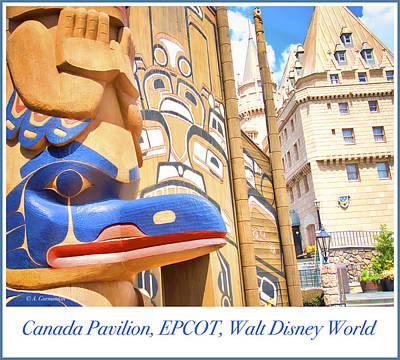 Photograph - Canada Pavilion, Epcot, Walt Disney World by A Gurmankin