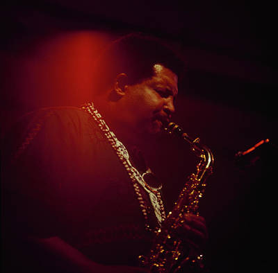 Cannonball Adderley Performs At Newport Art Print by David Redfern
