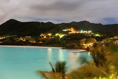 Antilles Photograph - Caribbean Coastline At Night by Michaelutech
