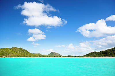 Antilles Photograph - Caribbean Hill Coastline by Michaelutech