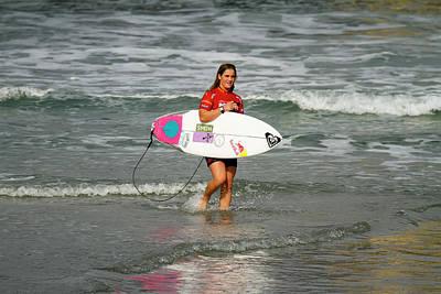 Photograph - Caroline Marks Surfer Girl by Waterdancer