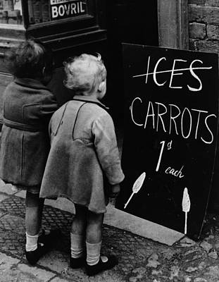 Carrot Lollies Art Print by Fox Photos