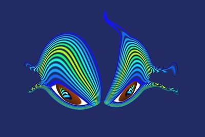 Digital Art - Cats Eyes by Charles Stuart