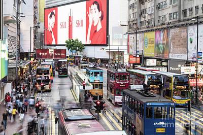 Photograph - Causeway Bay Rush In Hong Kong by Didier Marti