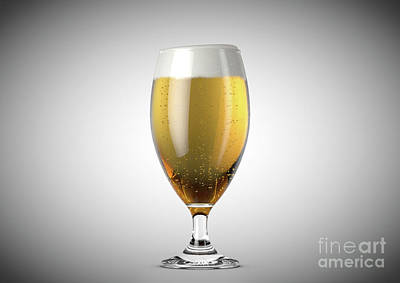 Beer Royalty-Free and Rights-Managed Images - Chalice Beer Pint by Allan Swart