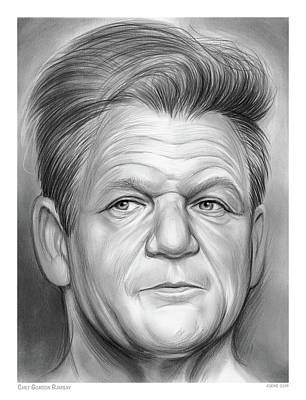 Drawings Rights Managed Images - Chef Ramsay Royalty-Free Image by Greg Joens