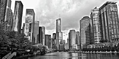 Lakefront Wall Art - Photograph - Chicago River Front And Center by Frozen in Time Fine Art Photography