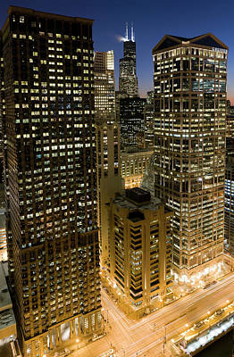 Photograph - Chicago Loop At Dusk by Chris Pritchard