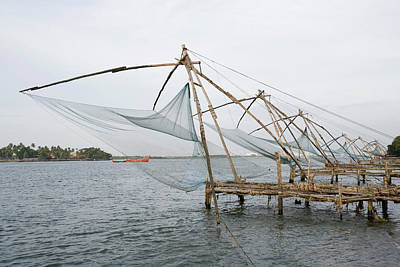 Photograph - Chinese Fishing Nets At A Harbor by Exotica.im