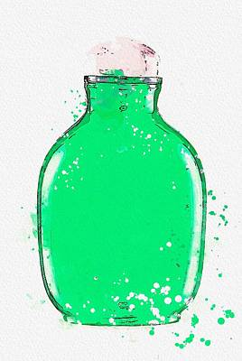 Zen Garden - Chinoiserie Snuff Bottles 08 watercolor by Ahmet Asar by Ahmet Asar