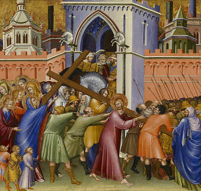 Painting - Christ On The Way To Calvary by Giovanni di Paolo