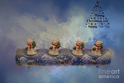 Mixed Media - Christmas Card by Eva Lechner