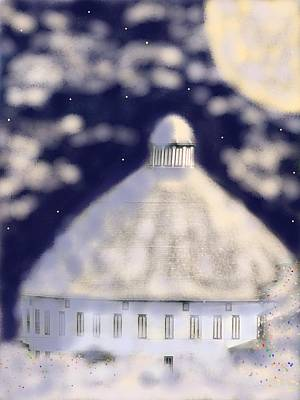 Photograph - Christmas Eve At The Round Barn by Angela Davies