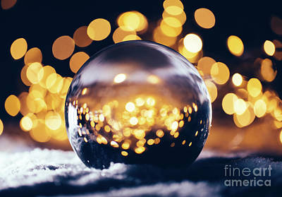 Keith Richards - Christmas glass ball on snow. by Michal Bednarek