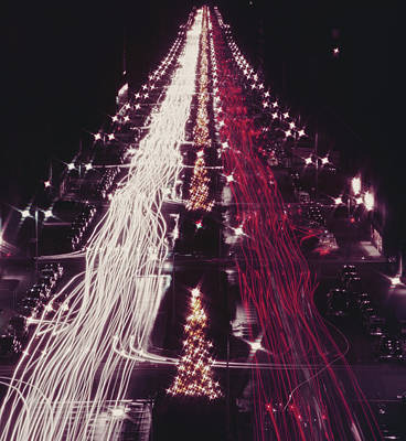 Photograph - Christmas Traffic by Slim Aarons