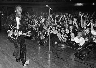 Chuck Berry Wall Art - Photograph - Chuck Berry In Concert At The Palladium by George Rose