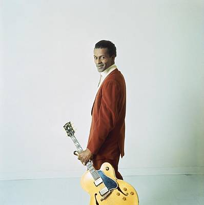 Chuck Berry Wall Art - Photograph - Chuck Berry Portrait Session by Michael Ochs Archives