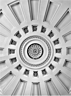 Photograph - Church Of The Presidents Ceiling by Rob Hans