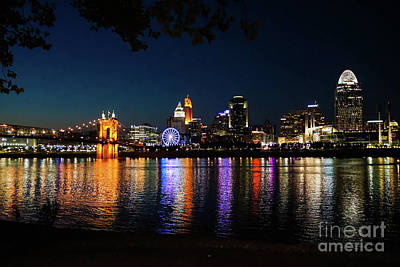 Photograph - Cincinnati Skyline by Cathy Donohoue