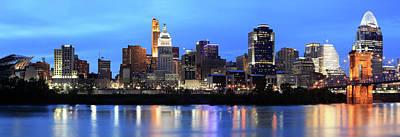 Ohio Photograph - Cincinnati Skyline, Ohio by Veni