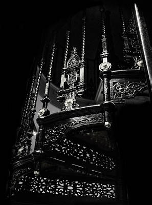Photograph - Circular Metal Stairs by Doc Braham