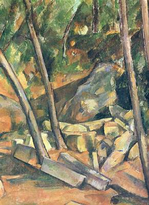 Colorful People Abstract - Cistern in the Park at Chateau Noir 1900 by Paul Cezanne Paintings