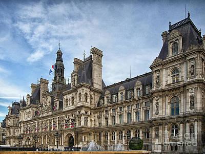 Photograph - City Hall Hotel De Ville Paris France by Wayne Moran