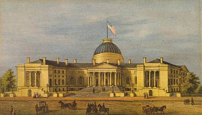 Painting - City Hall - Washington by Celestial Images