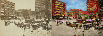 Photograph - City - New York - The Future Site Of The Flatiron Building 1890  by Mike Savad