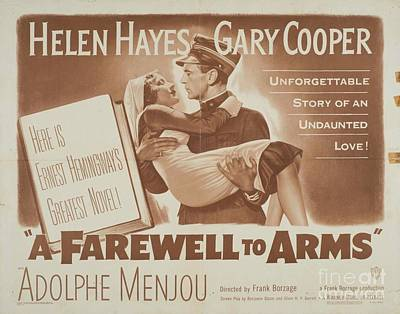 Digital Art Rights Managed Images - Classic Movie Poster - A Farewell to Arms Royalty-Free Image by Esoterica Art Agency