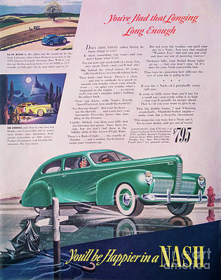 Photograph - Classic Nash Automobile Advertising by Kevin McCarthy