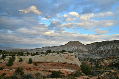 Photograph - Clouds Over Colorado National Monument At Sunset by Ray Mathis