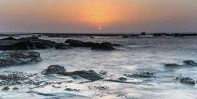 Photograph - Coastal Sunrise With Rocks by Merrillie Redden