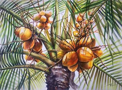 Painting - Coconut Tree by Katerina Kovatcheva