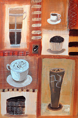 Painting - Coffee Cups And Cakes by Mary Stubberfield