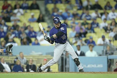 Photograph - Colorado Rockies V Los Angeles Dodgers by Stephen Dunn