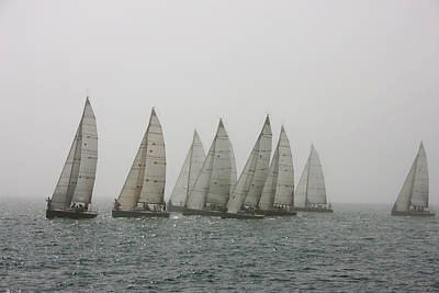Us State Photograph - Competitive Sailing In Key West by Schedivy Pictures Inc.