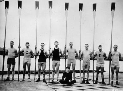 Photograph - Cornell Rowers by General Photographic Agency