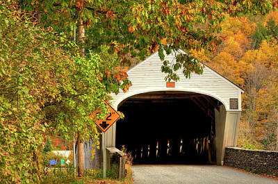 Photograph - Cornish - Windsor Covered Bridge by Joann Vitali