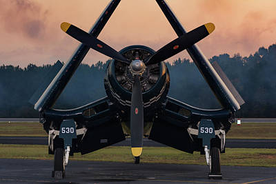Photograph - Corsair At Dusk by Chris Buff