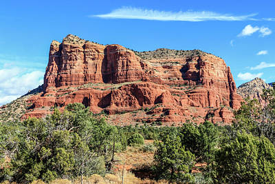 Photograph - Courthouse Rock, Sedona by Dawn Richards
