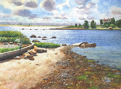 Painting - Crab Rock, Low Tide by Tyler Ryder