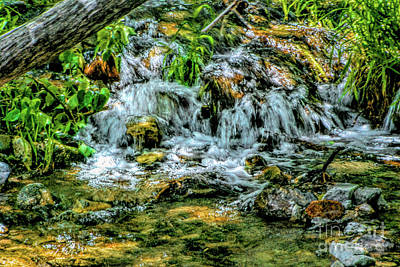 Digital Art - Creek Waterfall by Joe Lach
