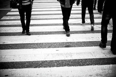 Photograph - Crossings A World Apart New York City by John Rizzuto