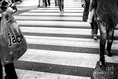Photograph - Crossings On The Edges New York City by John Rizzuto