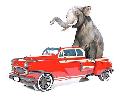 Old Ford Truck Wall Art - Digital Art - Cruising  by Betsy Knapp